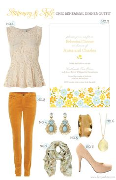 Stationery  Style: Chic Rehearsal Dinner Outfit