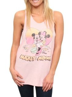 Minnie and Mickey in Love tank  Has a backhit too!  $34  www.junkfoodclothing.com