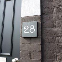 Numéro de maison ardoise
