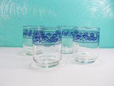 Vintage Libbey Old Town Juice Glasses Set of 4 by FourPawsVintage