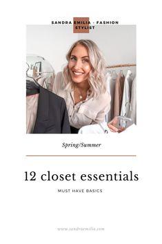 12 closet essentials for Summer 2020 Beige Blazer, Beige Sweater, Fashion Videos, Fashion Tips, Closet Essentials, Fashion Stylist, Styling Tips, Must Haves, Stylists