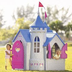 "Top 10 sizzling summer toys – Disney Princess Wonderland Castle from Toys ""R"" Us – Toys Ideas Princess Playhouse, Castle Playhouse, Backyard Playhouse, Build A Playhouse, Kids Indoor Playhouse, Outside Playhouse, Disney Princess Castle, Princess Room, Princess Party"