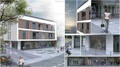 Rendering progetto edificio | da Monica Bozzo render