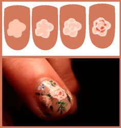 Easy Rose Nail Art Tutorial — how to draw a rose design
