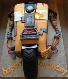 Claptrap Robot cake from Borderlands video game - Cake by JulieCromie