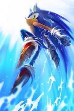 Beriku : Sonic the Hedgehog (ソニック・ザ・ヘッジホッグ Sonikku za Hejjihoggu? Sonic el erizo) es un personaje de videojuegos y la mascota creada por y. Sonic The Hedgehog, Hedgehog Art, Shadow The Hedgehog, Sonic And Amy, Sonic And Shadow, Video Game Art, Video Games, Pokemon, Sonic Franchise