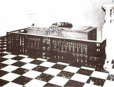The original tomb of Bishop C.Mason, in the foyer of Madon Temple, headquarters of the Church of God in Christ, Memphis, TN