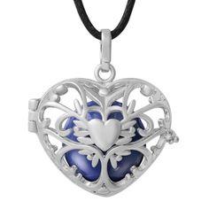 Harmony ball pot belly necklace heart lockets cage sounds angel caller pendant #Harmonybolas #Pendant