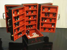 Perfect BPAL organization! Custom BPAL storage cases. Ohhh if only I had enough money to a) buy this and b) buy enough perfume to fill it!
