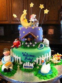 nursey rhyme cake made by Misti Short Cakes