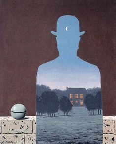 (idea for collage) The happy donor, 1966 by Rene Magritte (1898-1967, Belgium)