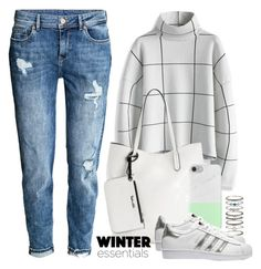 """""""OOTD - Plaid Sweater"""" by by-jwp ❤ liked on Polyvore featuring Accessorize, Chicwish, Splendid and adidas Originals"""