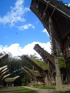 Tongkonan are the traditional Torajan ancestral houses. KE'TE KESU' Village | Tana Toraja, Indonesia