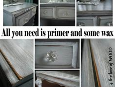 4 the love of wood: PAINT TUTORIAL - white washing over grey