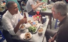 "She has ladled out countless bowls of her pork noodle soup, but the owner of a Hanoi streetside restaurant says she was stunned when Barack Obama strolled in, pulled up a plastic stool and slurped down Vietnam's famed ""bun cha"" delicacy."