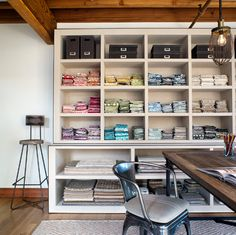 craft room ideas and layouts | ... create a storage installation that becomes part of your room's decor