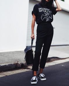 sporty casual all black everything