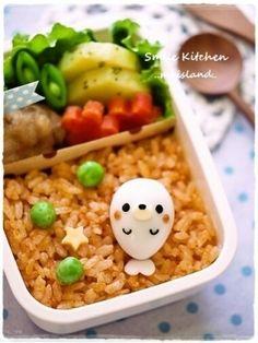 キャラ弁(キャラ弁おかず)*うずらdeアザラシくん by Mai*Mai|簡単作り方/料理検索の楽天レシピ