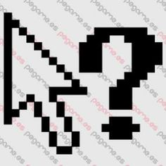 Pegame.es Online Decals Shop  #icon #computer #help #question #computing #pixel #cursor #vinyl #sticker #pegatina #vinilo #stencil #decal