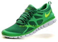 TaG7250 Nike Free 3.0 V3 Men's Running Shoe Lucky Green/Volt Sale - Click Image to Close