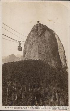 Pan de Azucar Rio de Janeiro Brazil | vintage postcards