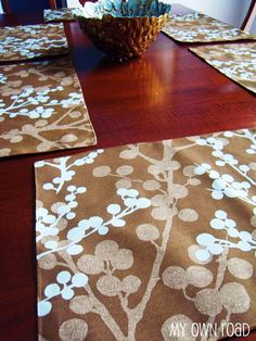 Easy to make placemats