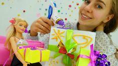 Игры для девочек: новогодние подарки своими руками от #Барби. Детский ка...