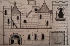 My Grade 9's recently completed their castle illustrations. I gave them a handout showing the different elements of a medieval castle (...