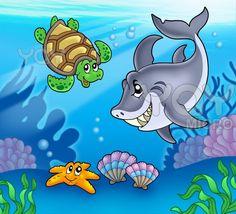 cartoon ocean wallpaper - Hľadať Googlom