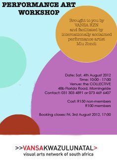 Performance Art Workshop. Saturday, 4th August.