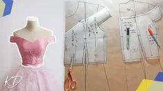 Dress Sewing Patterns, Clothing Patterns, Pattern Sewing, Pattern Drafting, Free Pattern, Off Shoulder Diy, Shoulder Sleeve, Shoulder Dress, Bodice Pattern