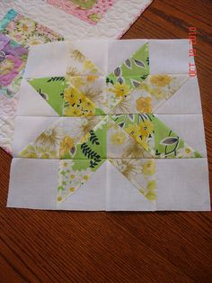 Vintage sheets star block