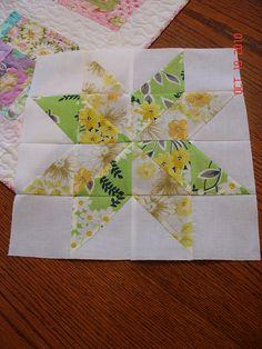 Vintage sheets star block