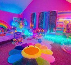Indie Bedroom, Indie Room Decor, Cute Room Decor, Hippie Bedroom Decor, Chambre Indie, Chill Room, Neon Room, Retro Room, Cute Room Ideas