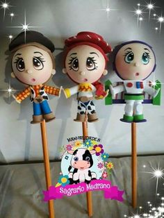 Foam Crafts, Diy And Crafts, Pencil Toppers, Clay Figurine, Biscuit, 3d Origami, Kokeshi Dolls, Toy Story, Baymax