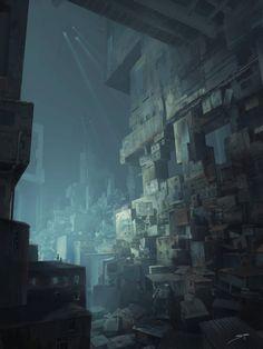 ArtStation - Futuristic Slums, Jean-Guilhem Bargues