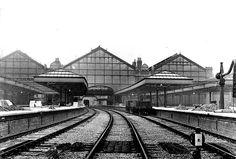 Nottingham Victoria Station under construction in Nottingham Station, Disused Stations, Steam Railway, Train Pictures, History Photos, Steam Engine, Train Station, Model Trains, Locomotive