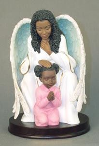 A collection of elegant and inspiration African American figurines featuring Guardian Angels. Perfect for any collector of African American themed sculpture of African American angels. African American Figurines, African American Art, Black Angels, Black Artwork, Afro Art, Guardian Angels, Angel Art, Black Women, Angels