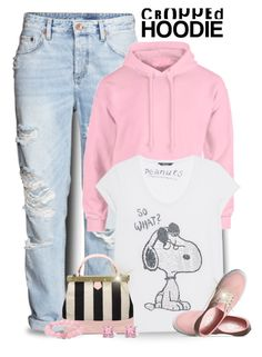 """""""Pink Cropped Hoodie"""" by majezy ❤ liked on Polyvore featuring H&M, Princess Goes Hollywood, Vans and Palm Beach Jewelry"""