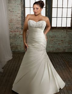 Mermaid Plus Size Wedding Dress