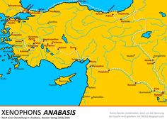 Karte von Xenophons Anabasis --- Map of Xenophons Anabasis