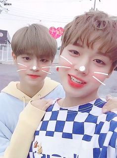 Wanna-One - Jihoon and Daehwi Jinyoung, Selca, Ong Seung Woo, Young Park, Cho Chang, All Meme, Jihyo Twice, Guan Lin, Lai Guanlin