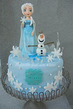 Gateau la reine des neiges - frozen cake
