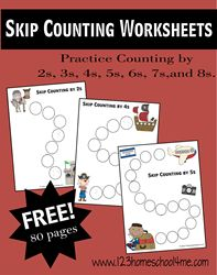 Skip Counting Worksheets (W1-W4)