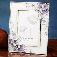 Butterfly Lavender Creamy Decor Photo Frame Display
