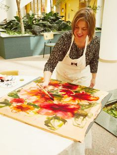 Get inspired to DIY your own  scarf with this silk scarf painting workshop. Such beautiful wearable art to bring more style to your day!