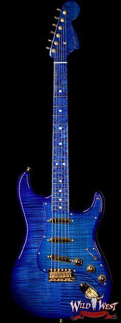 Fender Custom Shop Masterbuilt Yuriy Shishkov 1969 Stratocaster NOS Flame Top Birdseye Nk Royal Blue