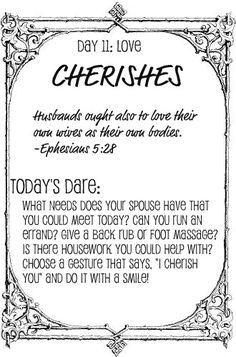 The Love Dare, Day 11