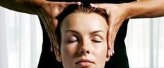 Apply pressure on the sides and the back of the head with the knuckles -- 1 of most effective #headmassage moves for instant #relaxation. To give a good scalp, thorough #massage, pull ops of ears with fingers until a cracking sound is evident, to indicate muscles in the ears are expanding & #tension is being #released. Apply pressure to eyebrows with index finger & thumb. (An effective technique for #relievingstress/#headache.)