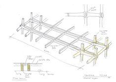 En Detalle: Sistema de ensambles Oficinas Tamedia, Shigeru Ban Architects